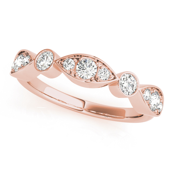 Stackable Swing Diamond Band Rose Gold