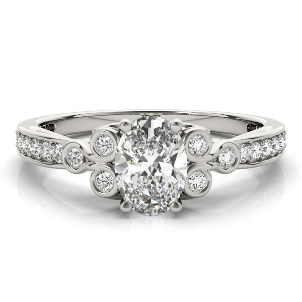 Oval Trinity Diamond Ring