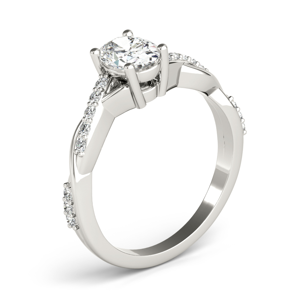 Petite Infinity Oval Diamond Engagement Ring