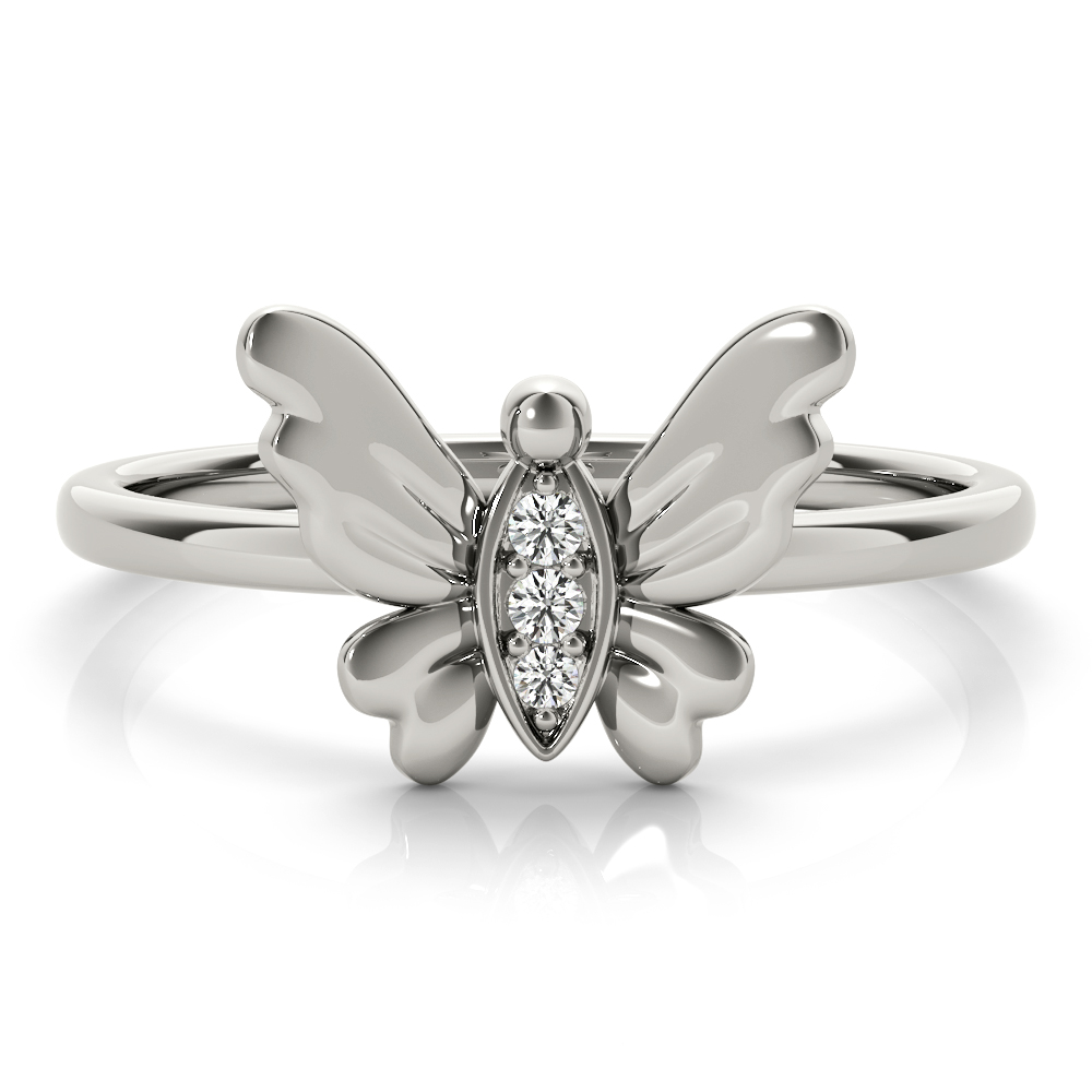 Petite Diamond Butterfly Ring