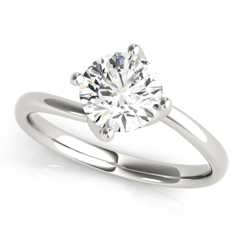 Swirl Solitaire Engagement Ring