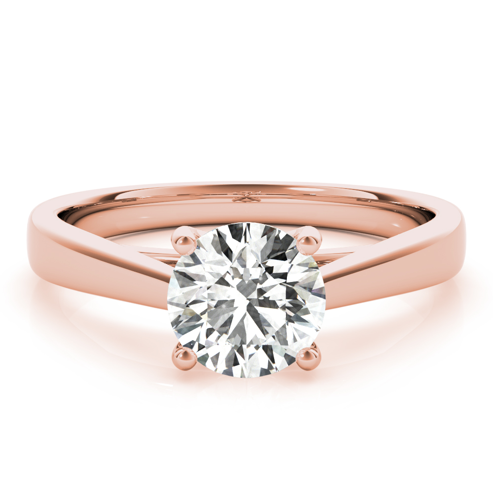 Unique Solitaire Engagement Ring Rose Gold