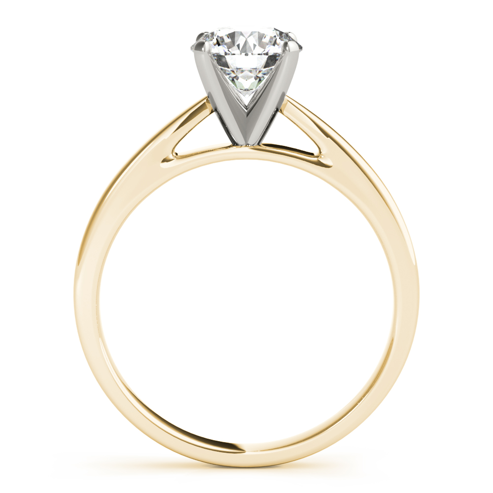 Classic Solitaire Cathedral Engagement Ring Yellow Gold