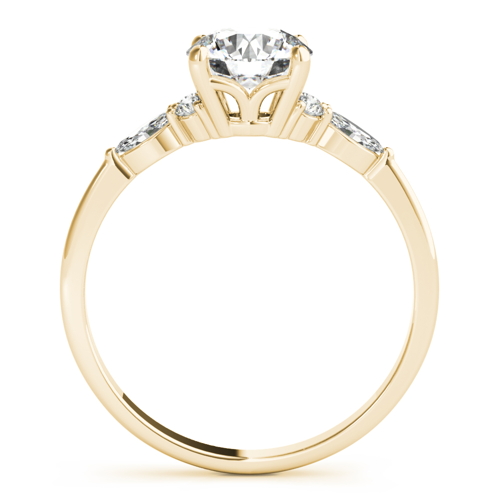 Floral Marquise Diamond Ring Yellow Gold