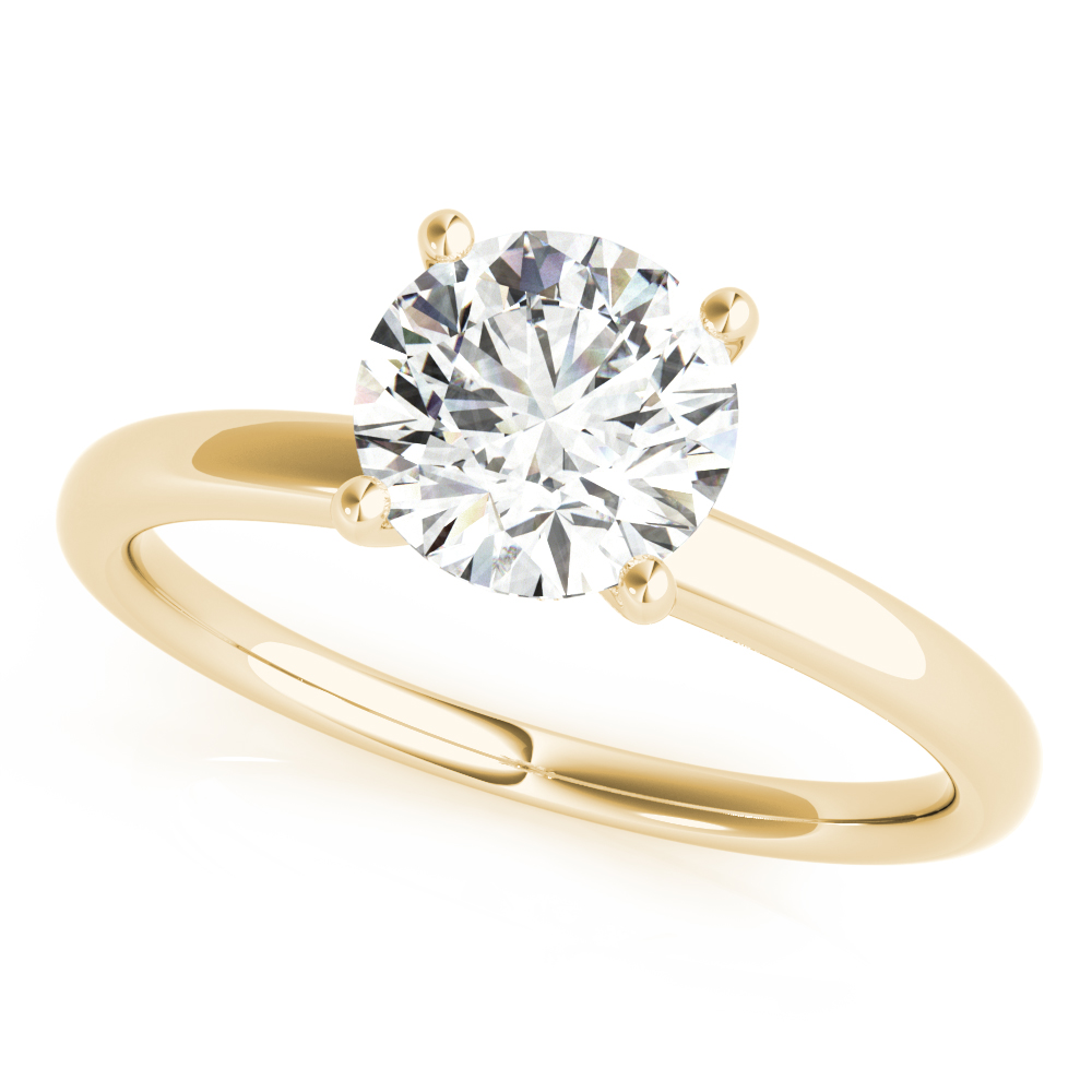 Side Halo Solitaire Engagement Ring Yellow Gold