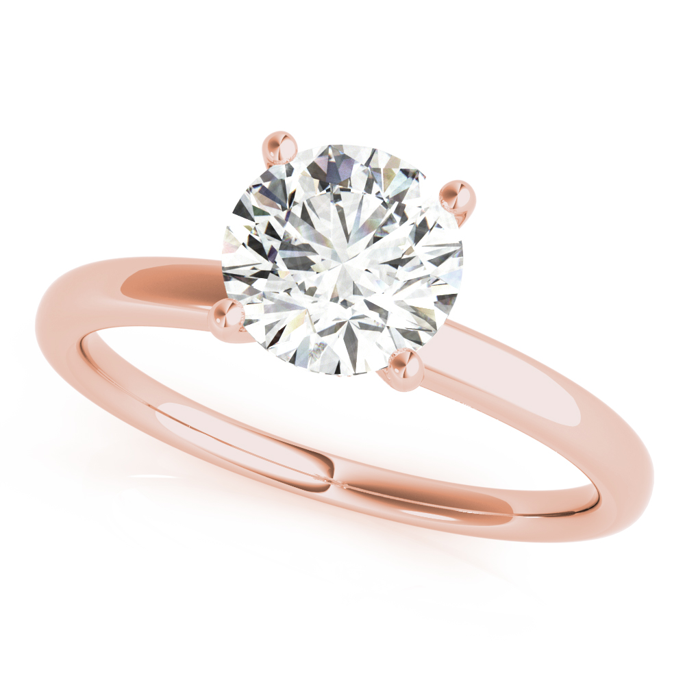 Hidden Halo Solitaire Engagement Ring Rose Gold