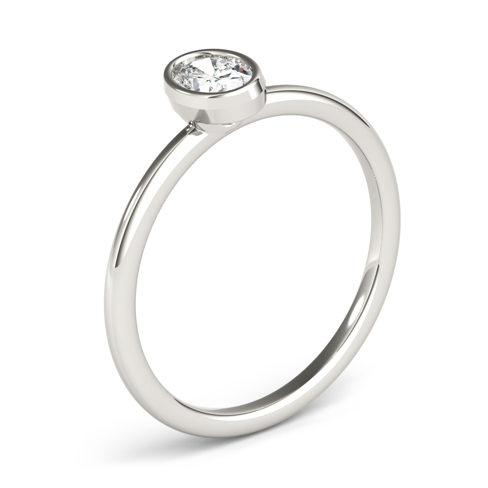 Petite Bezel Oval Diamond Stackable Ring