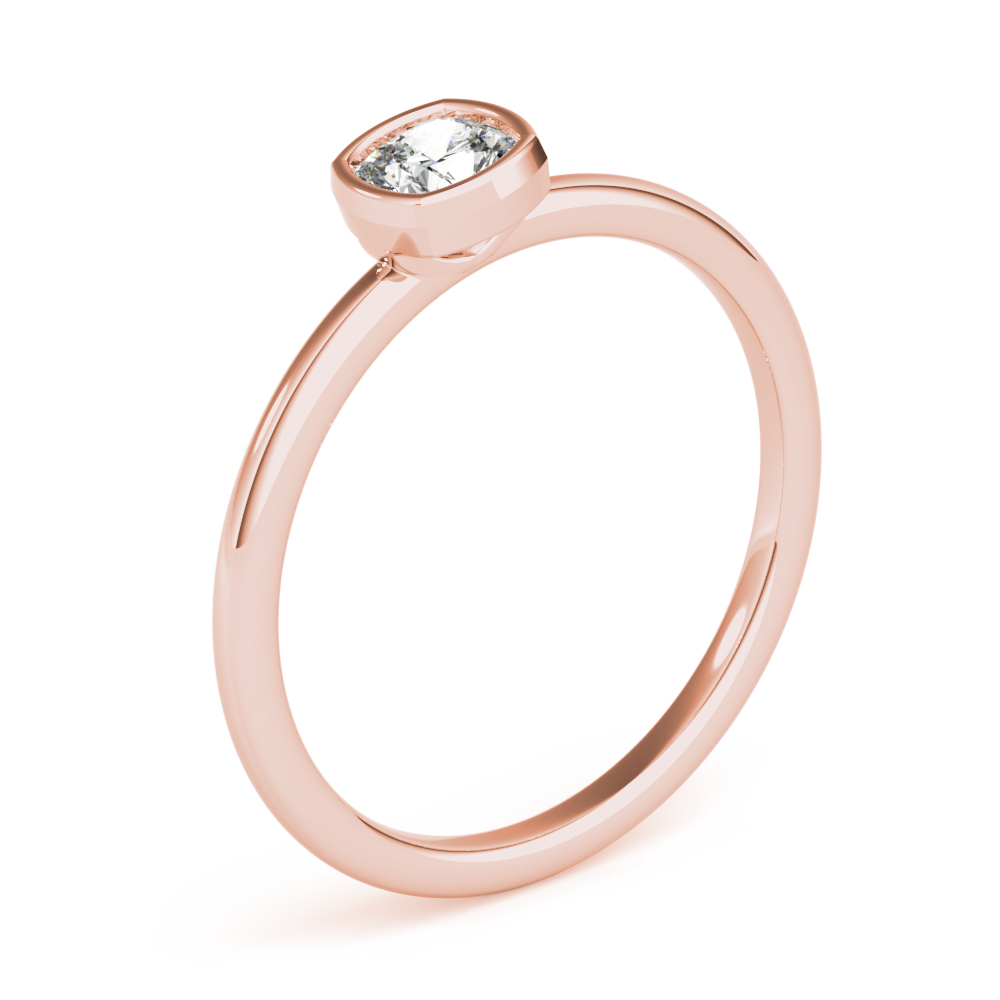 Petite Cushion Diamond Stackable Ring Rose Gold
