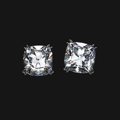 Cushion Diamond Stud Earrings 0.80 tcw.