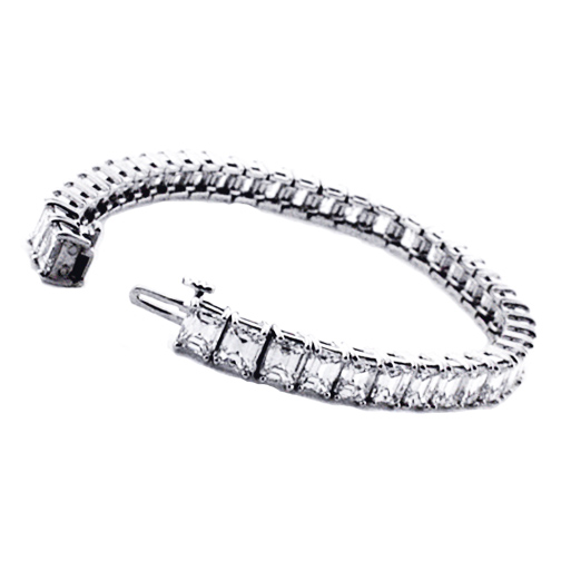 19 Carat Emerald Cut Diamond Tennis Bracelet G-H VS