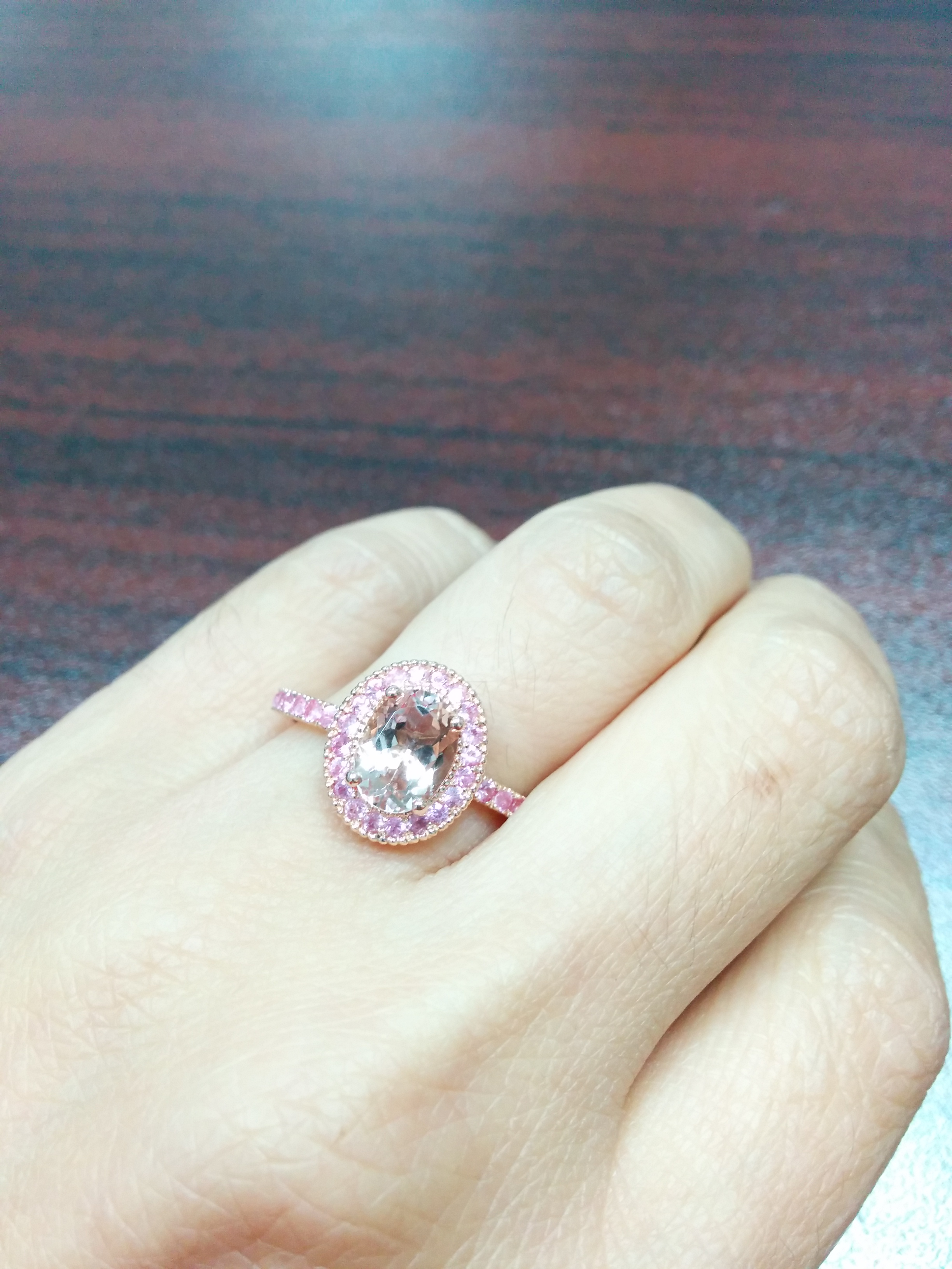 ring eternity vittore swarovski band pink crystal in bands