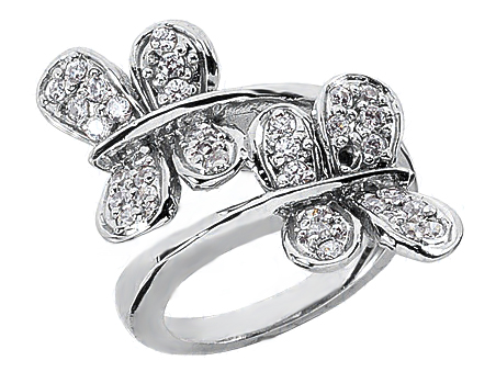 Spiral Double Butterfly Ring
