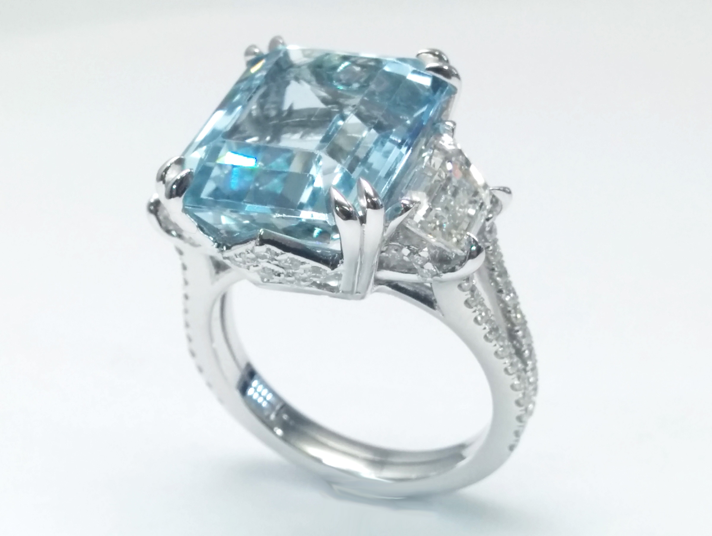 aquamarine rings ring jan logan robertson aqua marine and fine diamond wedding jewellery