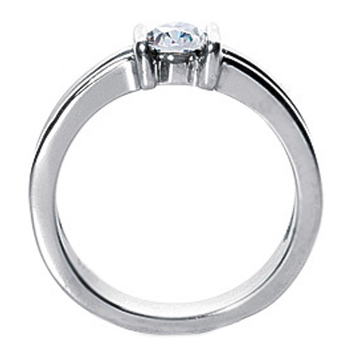 0.25 Carat Round Diamond Concave Solitaire Engagement Ring