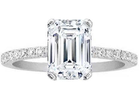 emarld cut wedding rings