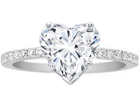 HEART SHAPED DIAMOND RING - Perhanda Fasa