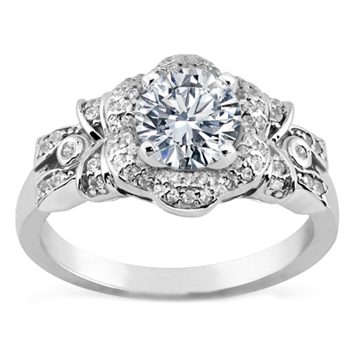 Bezel Engagement Rings from MDC Diamonds NYC
