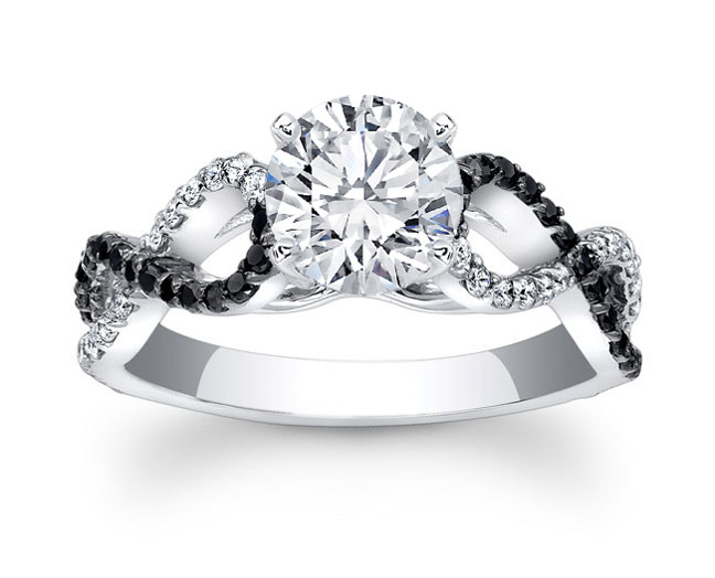 Black & White Infinity Diamond Engagement Ring