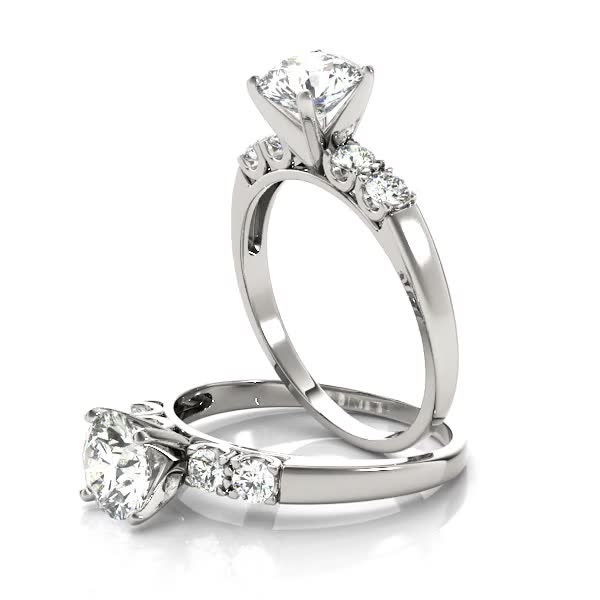 Petite U Prong Diamond Engagement Ring