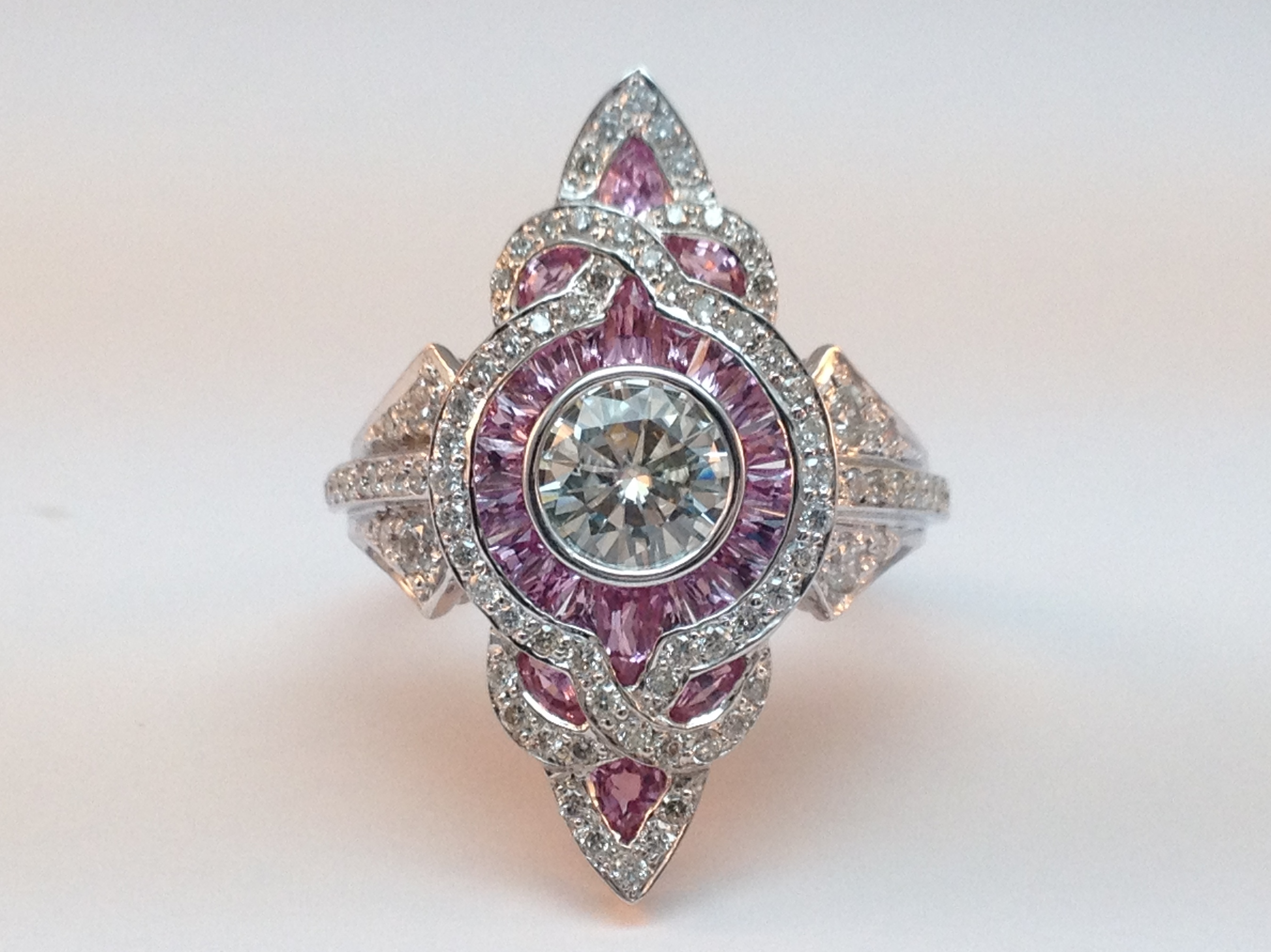 spectacular rings weddings ring asprey diamond tudor rose engagement trans pink
