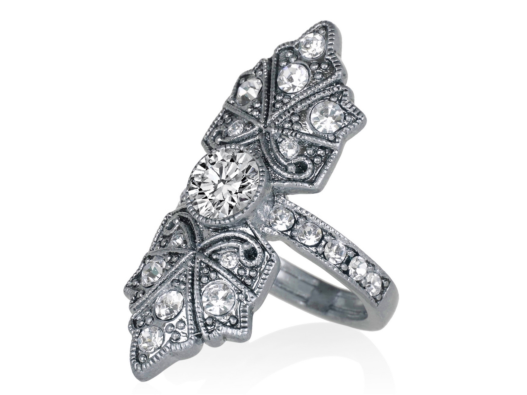 Butterfly Edwardian Diamond Engagement Ring