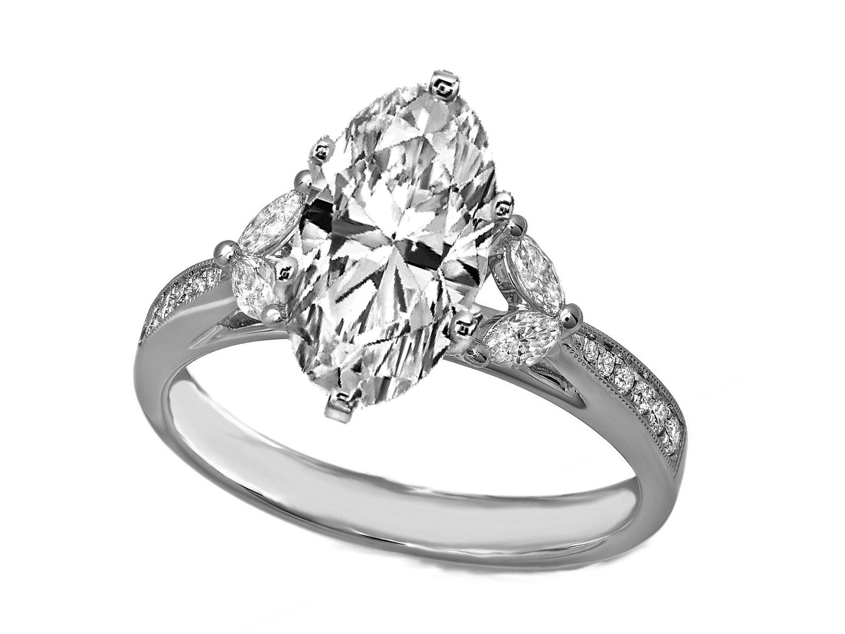 ring jewelry cut today product rose rings gold solitaire watches shipping diamond marquise auriya engagement overstock free tdw