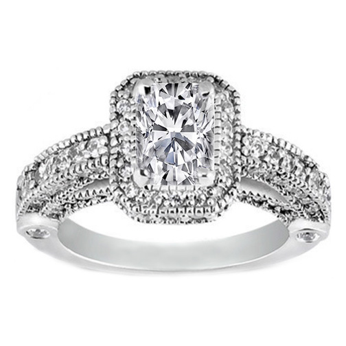 Cushion Diamond Legacy Style Engagement Ring 1.05 tcw.
