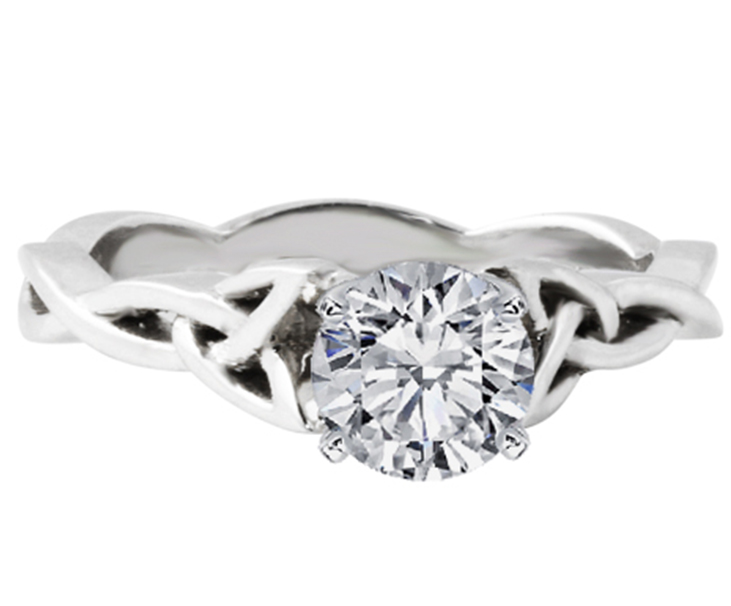 Cathedral Celtic Infinity Solitaire Engagement Ring
