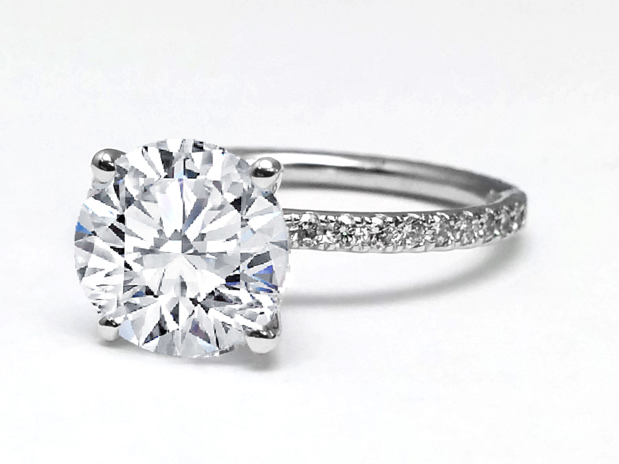 Petite Eternity Diamond Engagement Ring
