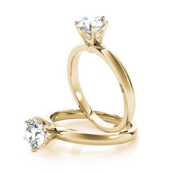 Classic Solitaire Novo Engagement Ring in Yellow Gold