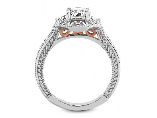 Diamond Star Halo Engagement Ring