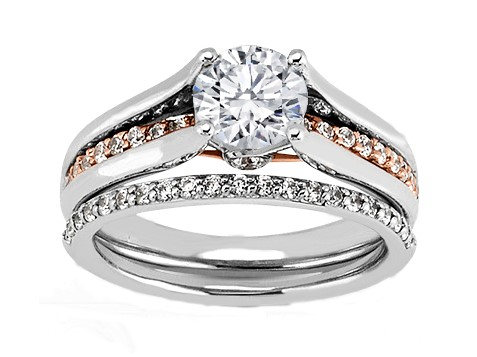 Diamond Bridge Engagement Ring