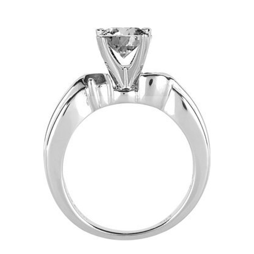 Swirl Engagement Ring Diamonds side stones 0.20 tcw. In 14K White Gold