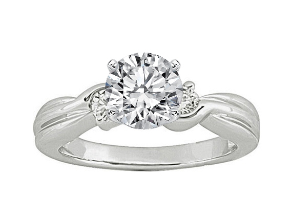 Swirl Engagement Ring Diamonds side stones