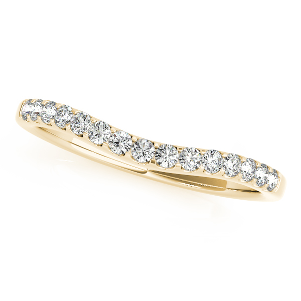 Three Stone Split Band Halo Bridal Set in Yellow Gold