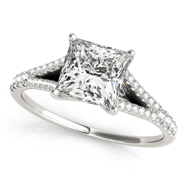 Princess Diamond Split Band Engagement Ring