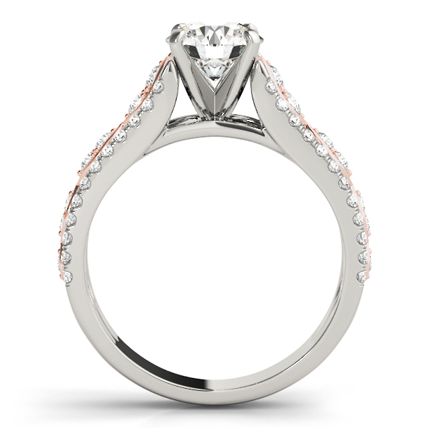 Infinity Engagement Ring, Two Tone