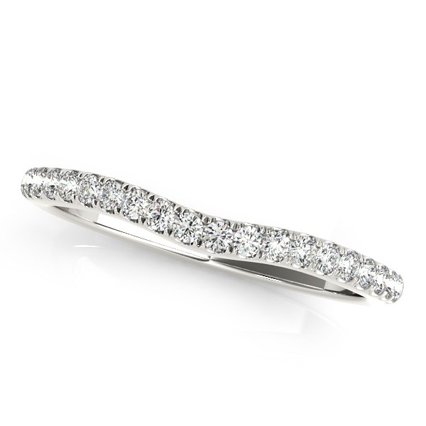 Halo Diamond Triple Row Split Band Bridal Set with Butterfly Filigree