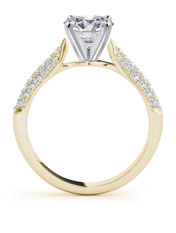 Etoil Diamond Engagement Ring Setting for All Shapes in Yellow Gold