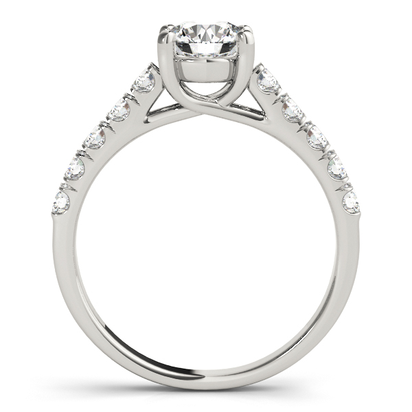 Petite Diamond Cathedral Trellis Engagement Ring