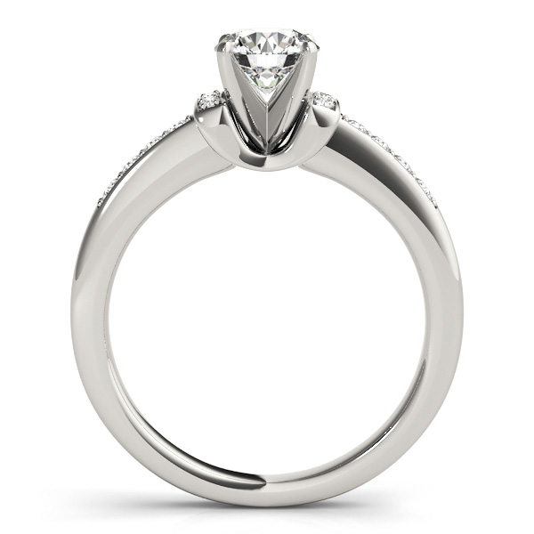 Petite Diamond Horseshoe Engagement Ring