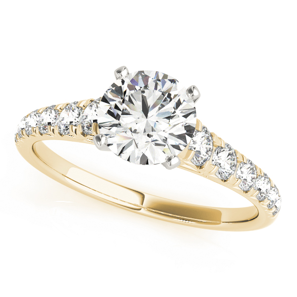 Diamond Cathedral Journey Engagement Ring in Yellow Gold