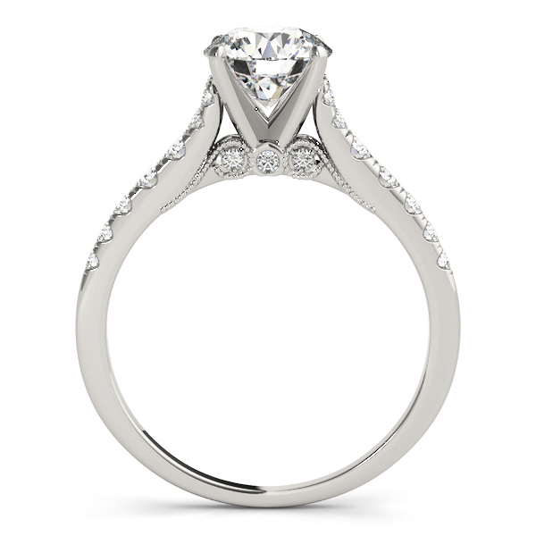 Cathedral Petite Diamond Engagement Ring with Surprise Diamonds