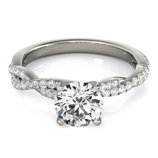 Petite Intertwined Diamond Engagement Ring