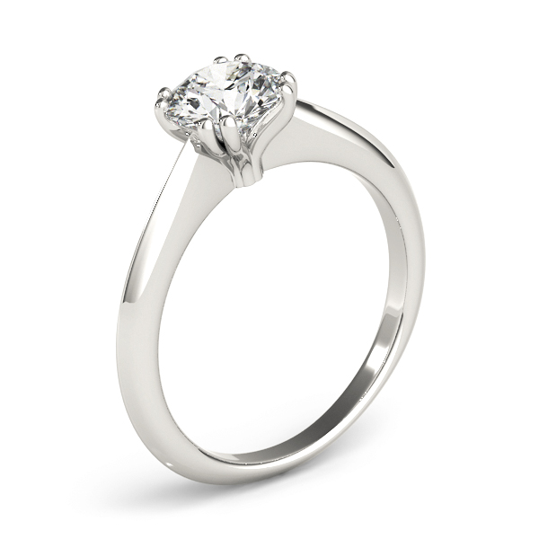 Solitaire Petite Knife Edge Engagement Ring