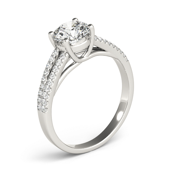 Trellis Diamond Engagement Ring with Split Band