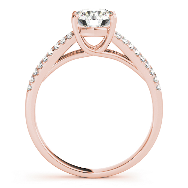 Trellis Diamond Engagement Ring with Split Band in Rose Gold