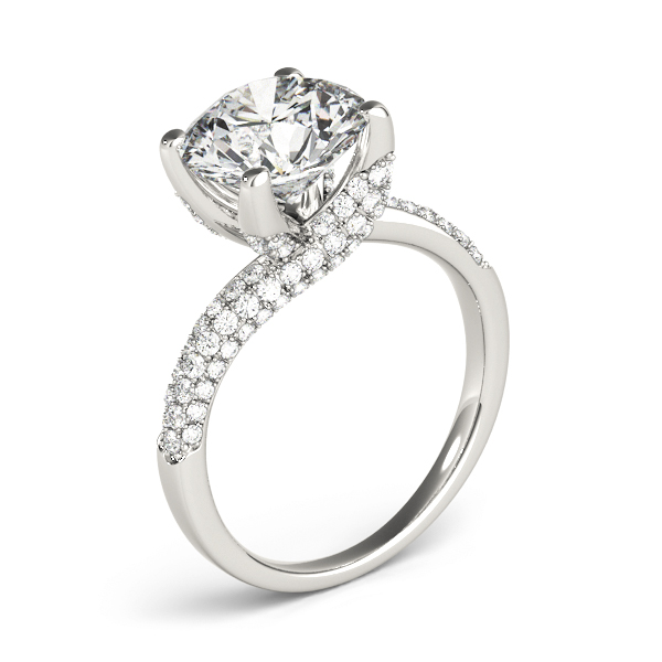 Swirl Etoil Diamond Engagement Ring
