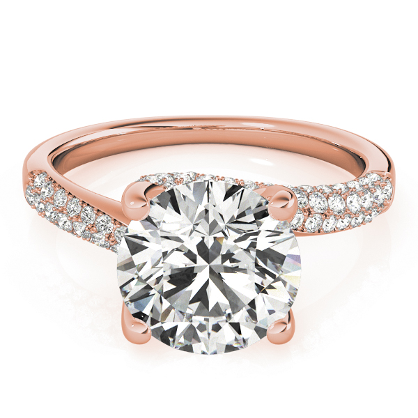 Swirl Etoil Diamond Engagement Ring in Rose Gold