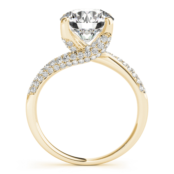 Swirl Etoil Diamond Engagement Ring in Yellow Gold